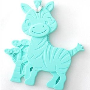 ✨Zebra Teether✨TURQUOISE BPA Free with Clip